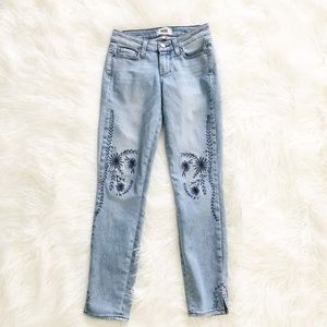 PAIGE | Verdugo Ankle Floral Embroidered Jeans 24